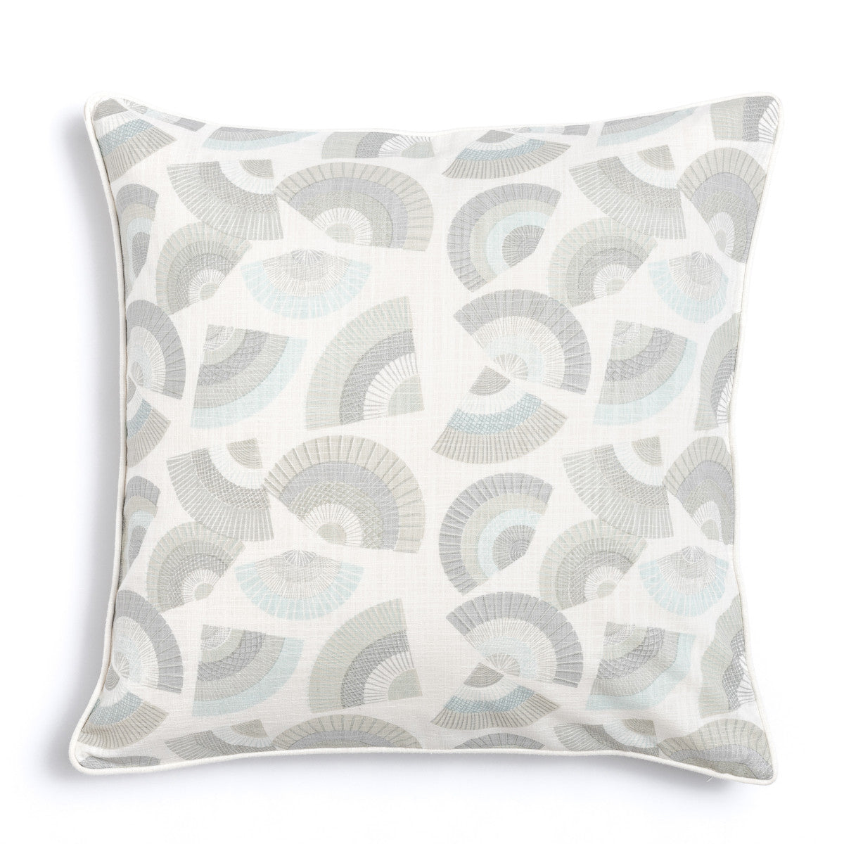 "Pebble 20"" x 20"" Bamboo + Fans Reversible Accent Pillow Cover"