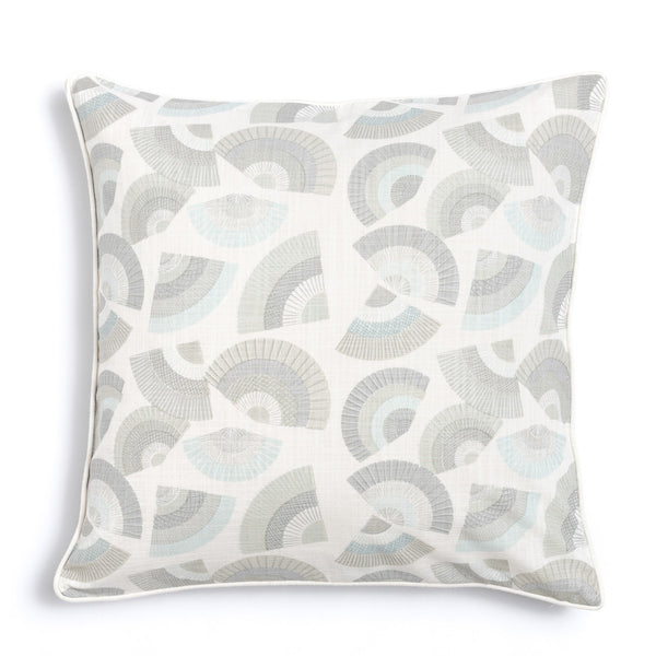 "Pebble 20"" x 20"" Bamboo + Fans Reversible Accent Pillow"