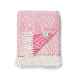Coral Diamond Throw Blanket