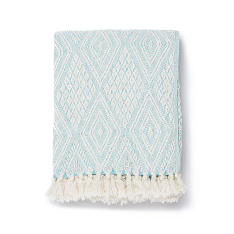 Seaglass Diamond Throw Blanket