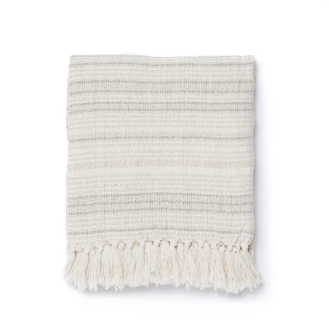 Pebble Stripe Throw Blanket