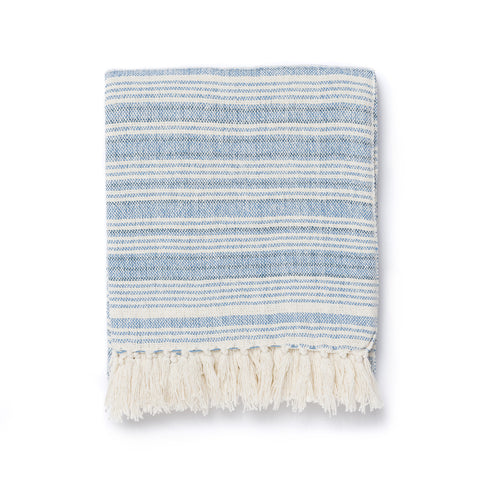 Oasis Stripe Throw Blanket
