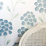 Scandi Flora Aqua Wallpaper
