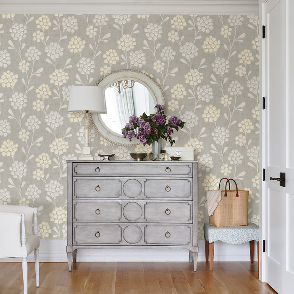 Scandi Flora Citrine Wallpaper
