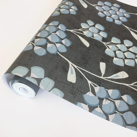 Scandi Flora Graphite Wallpaper