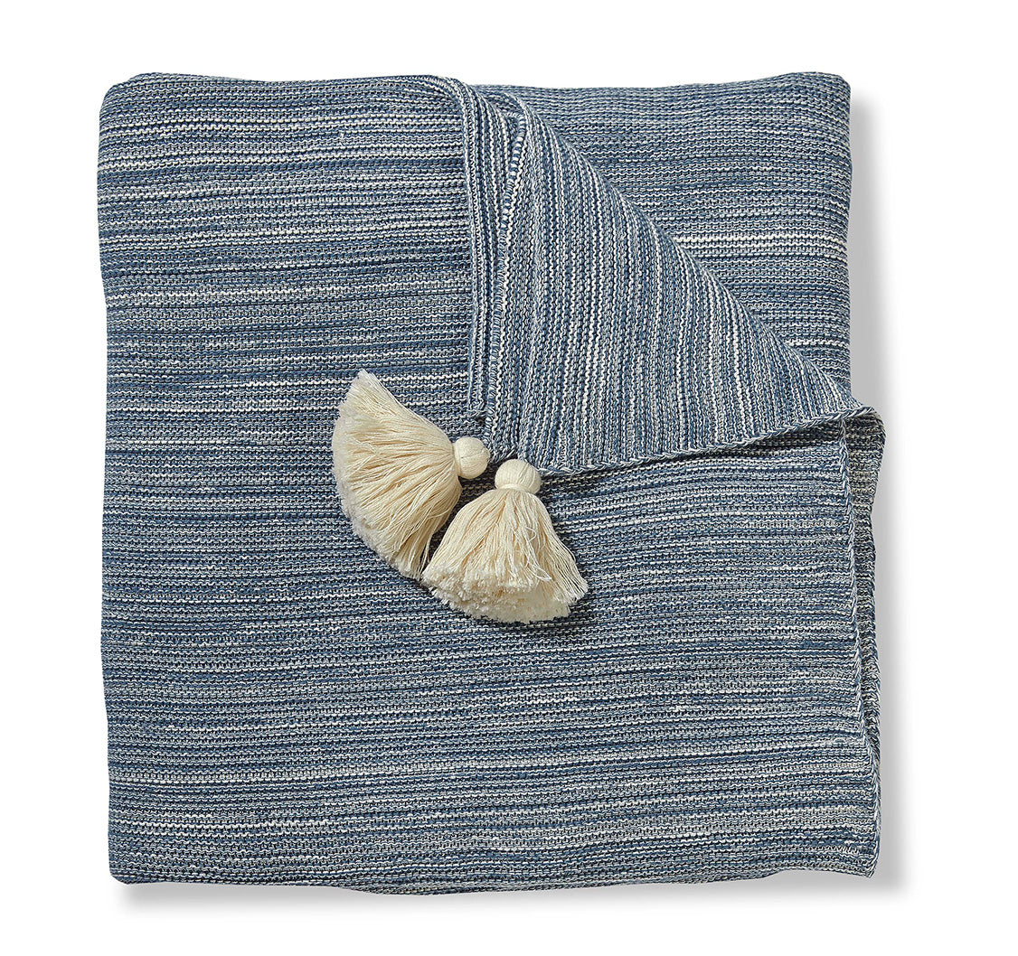Strie Denim Throw Blanket