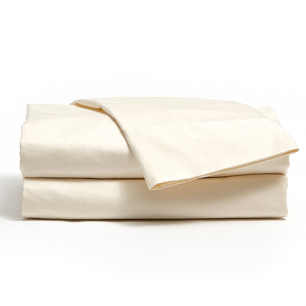 Ivory 500 TC Egyptian Cotton Classic Dot Sheet Set