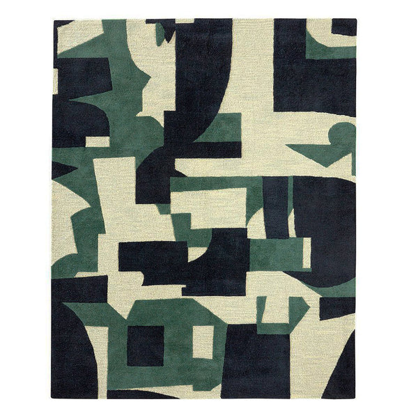 Tommy Bottle Green Wool Rug