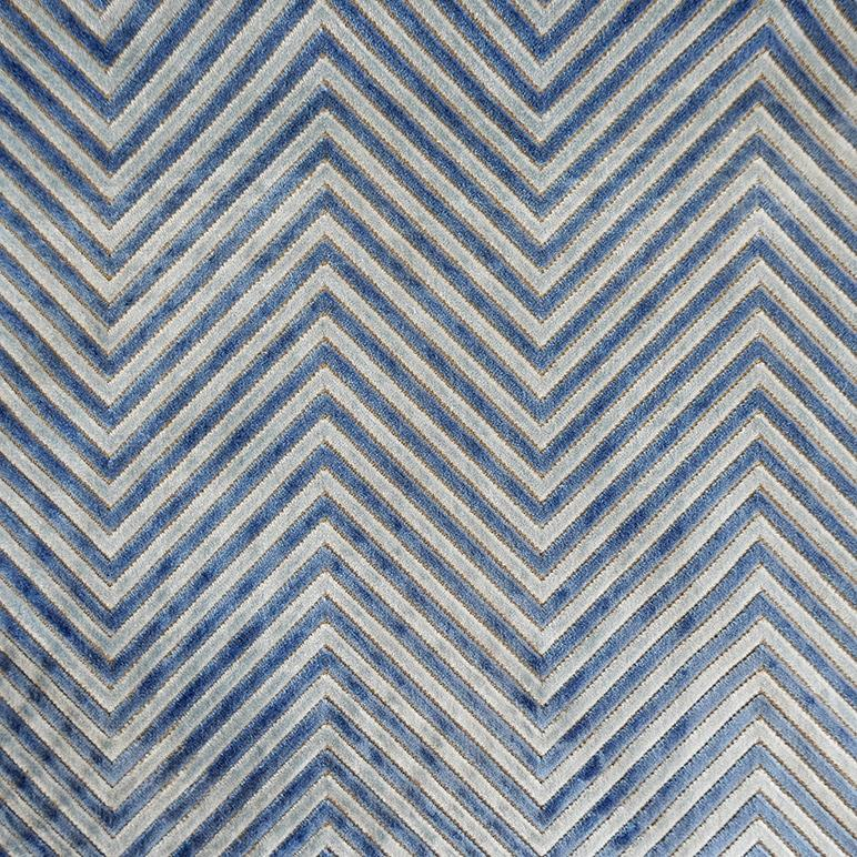 Zig and Zag Indigo Fabric
