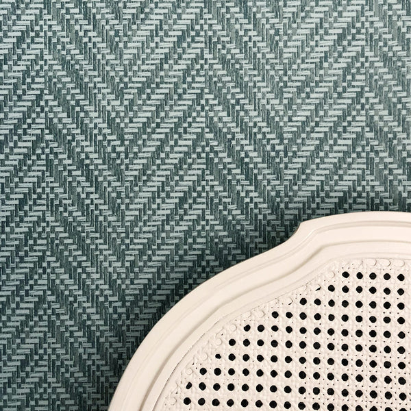 Ziggity Aegean Grasscloth Wallpaper