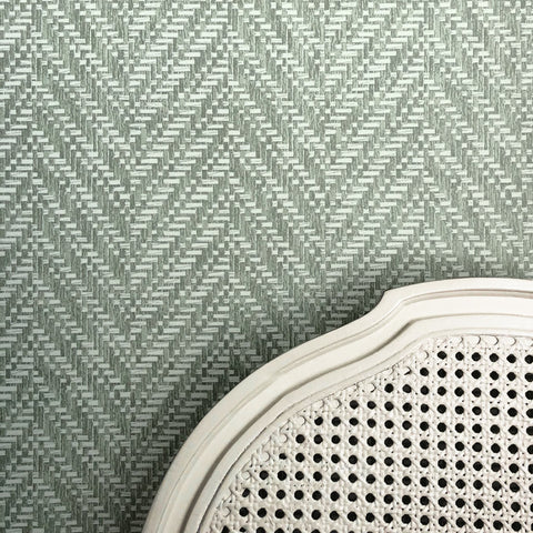 Ziggity Meadow Grasscloth Wallpaper
