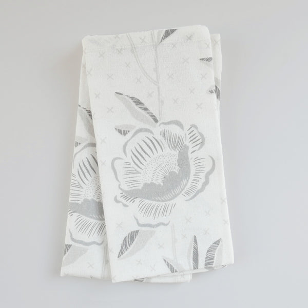Birch Block Print Peony Napkins, Set of 4