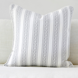 "Birch 20"" x 20"" Marble + Stripe Reversible Accent Pillow"