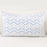 "Celestial 16"" x 26"" Modern Chevron + Marble Reversible Accent Pillow Cover"