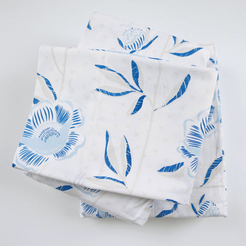 Celestial Block Print Peony Sheet Set (size: twin)