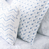 Celestial Etched Chevron Duvet Cover + Sham Set