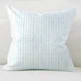"Jade 20"" x 20"" Marble + Etched Chevron Reversible Accent Pillow"