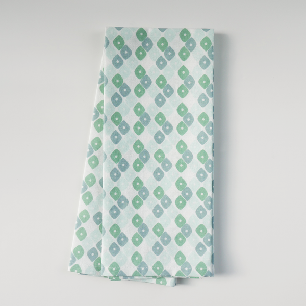 Jade Candy Lattice Tea Towels, Set of 2