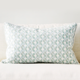"Jade 16"" x 26"" Candy Lattice + Modern Chevron Reversible Accent Pillow"