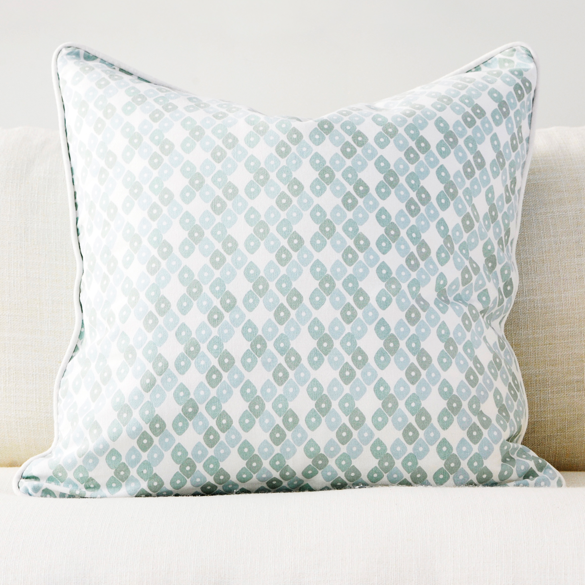 "Jade 20"" x 20"" Candy Lattice + Modern Chevron Reversible Accent Pillow"