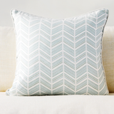 "Jade 20"" x 20"" Candy Lattice + Modern Chevron Reversible Accent Pillow Cover"