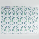 Jade Candy Lattice + Modern Chevron Placemats, Set of 4