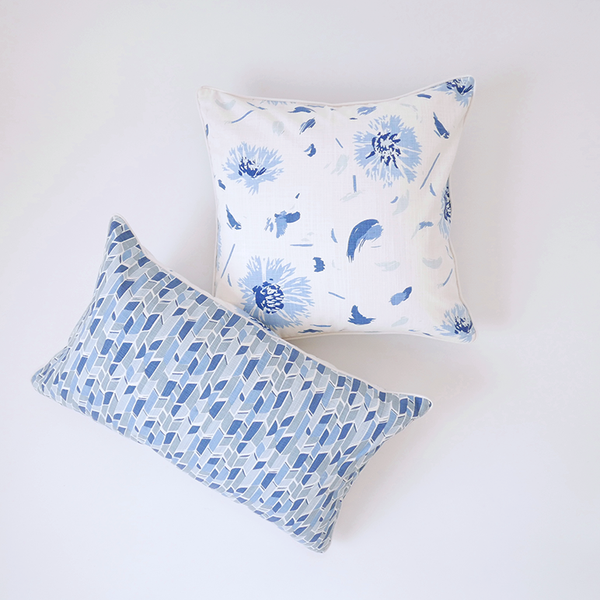 "Oasis 16"" x 26"" Bamboo + Wildflower Reversible Accent Pillow"