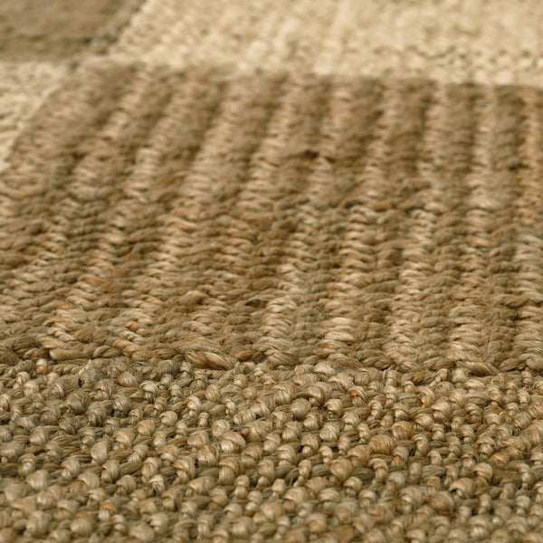 Patchwork Natural Wool Rug