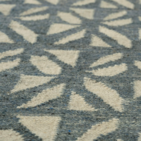 Pinwheel Denim Wool Rug