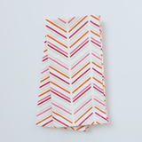 Pomegranate Modern Chevron Napkins, Set of 4