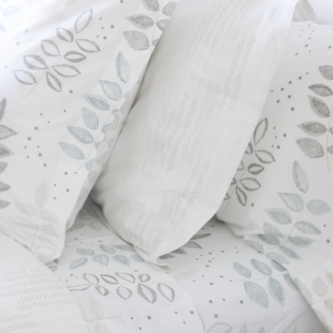 Birch Etched Leaf Sheet Set (sizes: Queen, King)