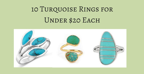Turquoise Rings for Under $20