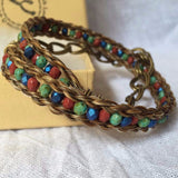 Horse Hair Bracelet with 4mm Czech Glass Beads, Wrap Bracelet