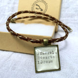 Horse Hair Necklace with Vintage Typewriter Barrel Racer Saying