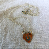 Custom Necklace with Handmade Copper Heart Charm