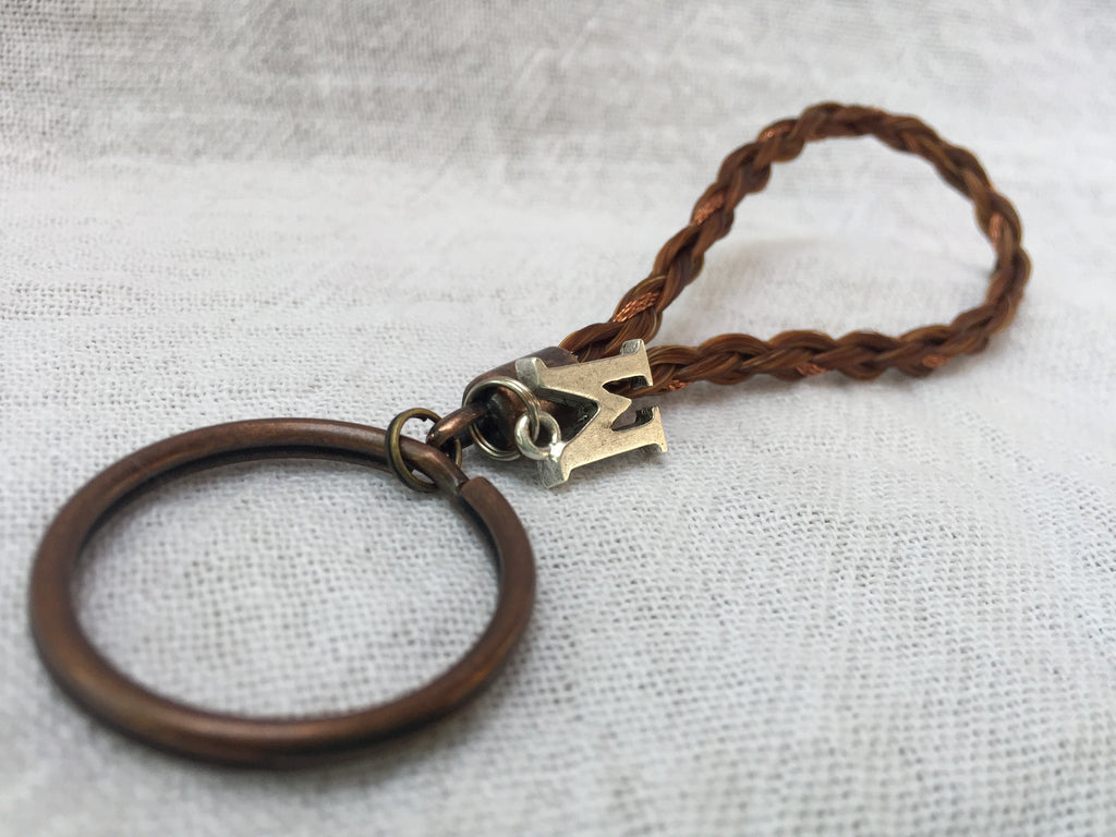 Star - Initial Key Chain With Copper Accents