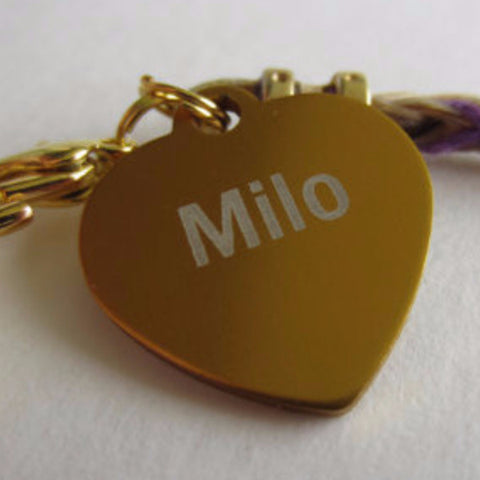 Add a Custom Engraved Heart Tag