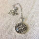 Max - Sterling Silver & Glass Domed Pendant
