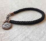 Braided Horsehair Bracelet with Copper Charm