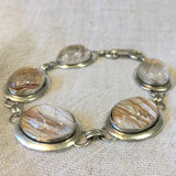 Kam - Linked Bezel Bracelet with Horsehair Set Under Glass