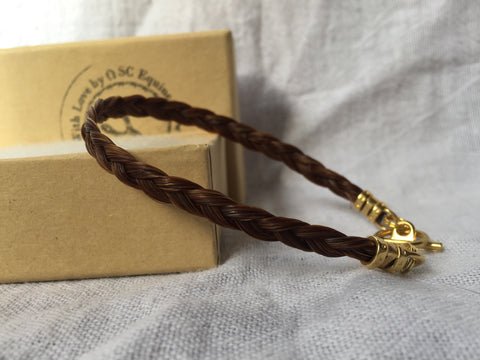 Bracelet with 3-strand Flat Braid