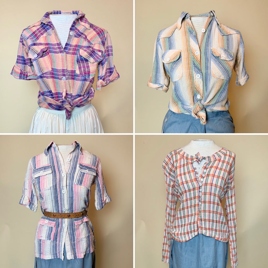 Vintage India Cotton Blouses (S, M, L)