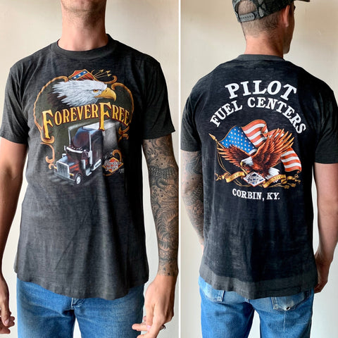 Forever Free Truckers Only 3D Emblem Shirt (L/XL)