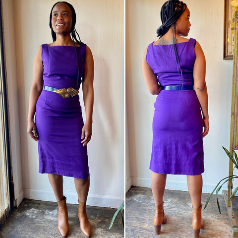 1960s Royal Purple Dress (S)