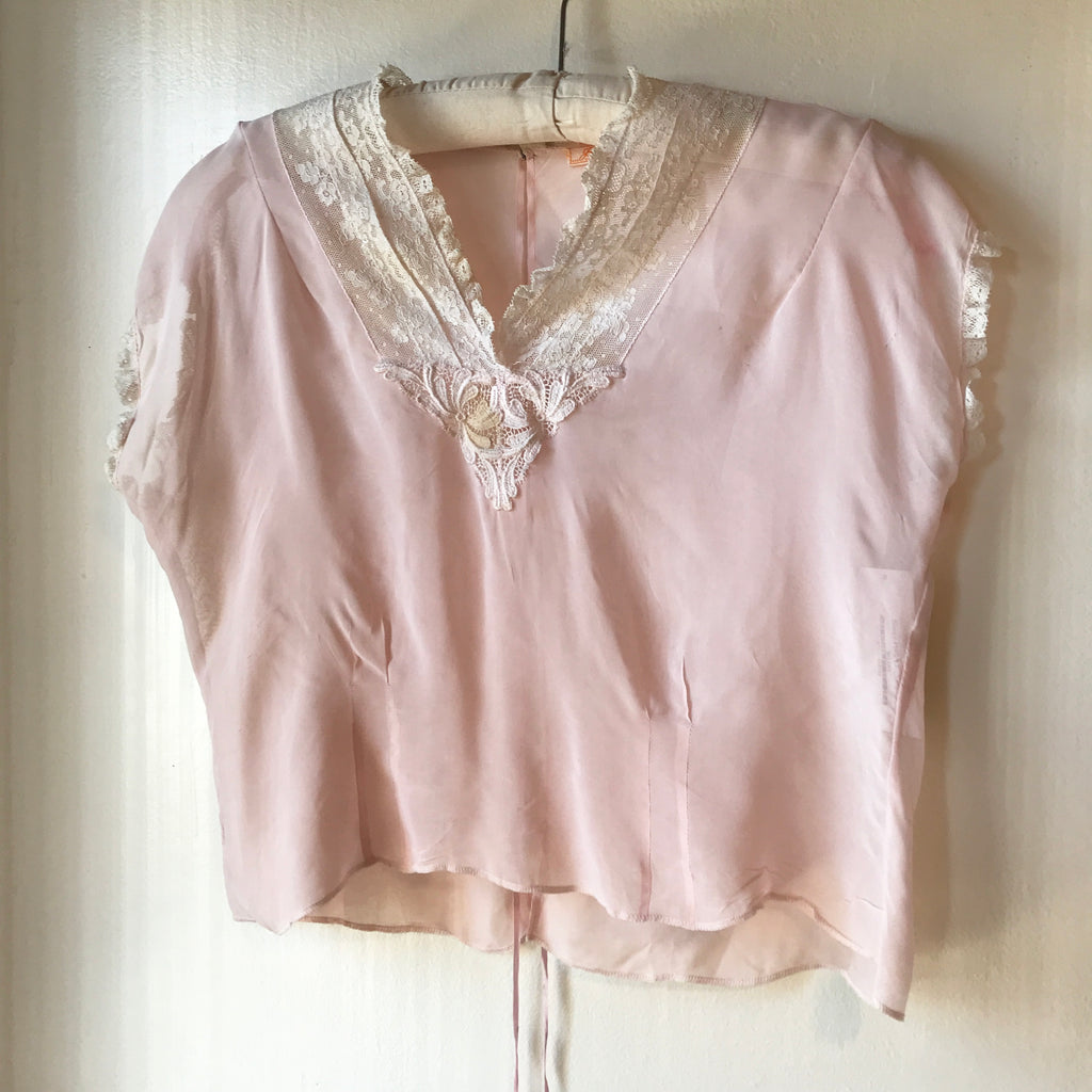 Sheer Pink Lingerie Top