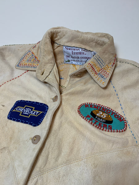 Vintage Hand-Embroidered Buttery Buckskin Shirt (S)
