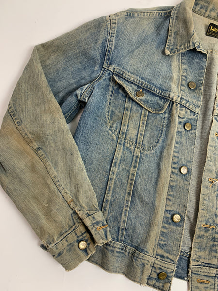 Vtg. Heavy Faded Lee Denim Jacket (M/L)