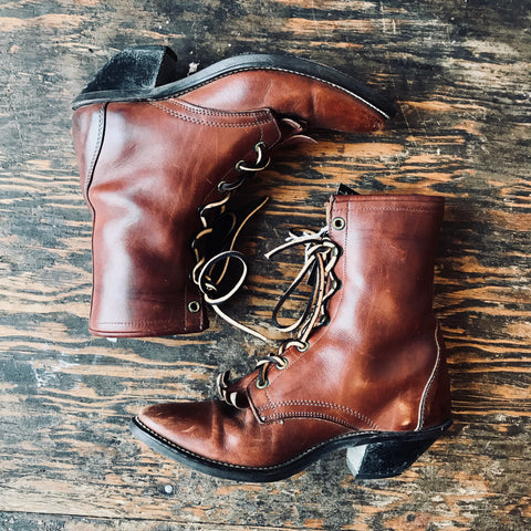 Vintage Rusty Brown Laredo Ropers women's 6 1/2