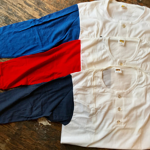 1970s NOS Color Block Henleys