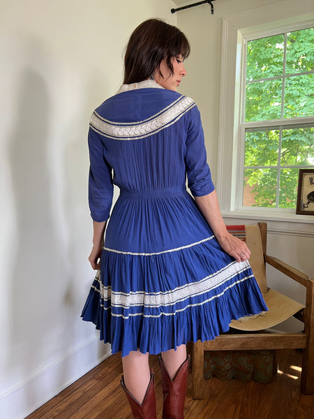 1940s Blue Ganscraft Chimayo Jacket (S)